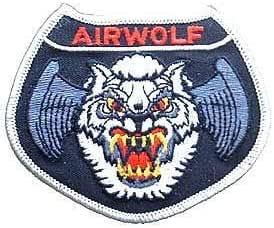 USAF- 原创著名补丁和贴花,刺绣爱国主义熨烫补丁 USAF,AIRWOLF 均码 VIKPM0034