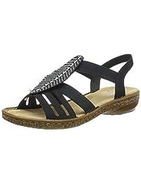 Rieker 女士 628g6-14 闭趾凉鞋