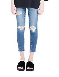 Moussy 女式 牛仔裤 0108AA12-9020110 蓝色 10024