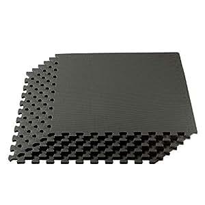 We Sell Mats Interlocking Anti-Fatigue EVA Foam Floor Mat, Charcoal Gray