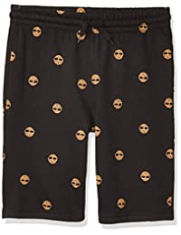 Timberland 添柏岚 男孩抽绳标志针织短裤 黑色 Small (4)