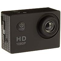 动作相机,12MP 1080P 2 英寸 LCD 屏幕,防水运动凸轮 120 度广角镜头,30m 运动相机 DV 摄像机带 2 个充电电池和安装配件套件 1080T06