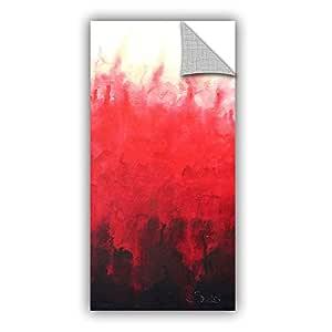 """ArtWall Shiela Gosselin's Red Watery Art Appeelz Removable Wall Art Graphic, 18 by 36"""""""