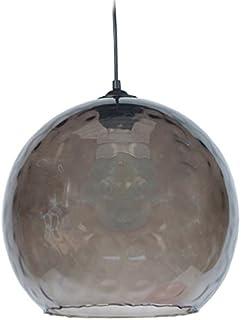 Tosel 12035 吊灯地球仪 PVC/玻璃 100 W E27 Noir Fumée 12033