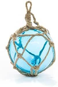 水杯玻璃浮球大型 — 钓鱼浮子球 12.7 厘米 — 完美适合海滩婚礼或圣诞装饰。航海压训练TM 水绿色 1包 NCTS6276