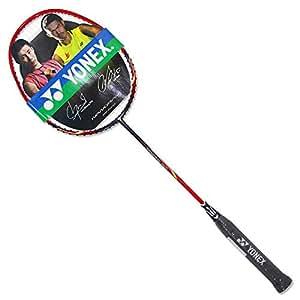 YONEX 尤尼克斯 中性 羽毛球拍4U全碳素单拍 NR-10F-187 红色(亚马逊自营商品, 由供应商配送)