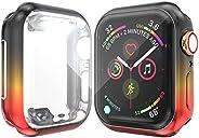 Josi Minea iWatch 5 & 4 保护扣合式手机壳,内置高清透明屏幕保护膜 - 防震和防刮薄壳,兼容 Apple Watch 系列 5 & 4