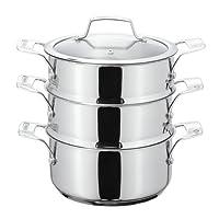 Stellar 三层蒸锅套装,银色,20厘米