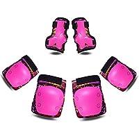 Robmoda 儿童防护装备 护膝 护肘 护腕 6 合 1 套装 专业加厚保护 适用于滑板滚轮 自行车 滑板车 骑行 运动