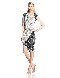 "BCBGMAXAZRIA 女士 ""tiffanie"" Print Blocked Dress With Side Shirring"