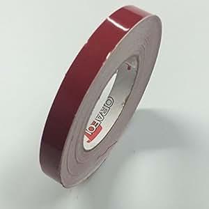 """ORACAL 651 乙烯基细条纹胶带 - 乙烯基细条纹线贴纸,条纹 - 1/4 英寸(约 0.6 厘米),1/2 英寸(约 1.3 厘米),3/4 英寸(约 1.9 厘米) 1/2"""" x 150ft 红色 Oracal 651"""