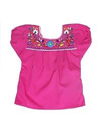 Mexican Clothing Co 女婴墨西哥衬衫传统府绸 CT