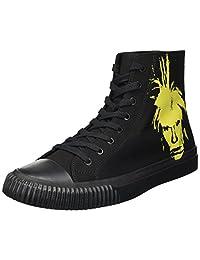 Calvin Klein 男式标志性帆布/沃霍尔印花 1 运动鞋