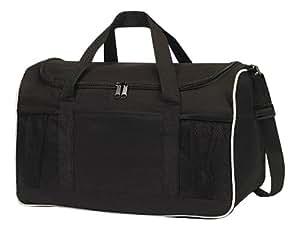 Bags for Less Sports 健身房行李袋大拉链开口,黑色