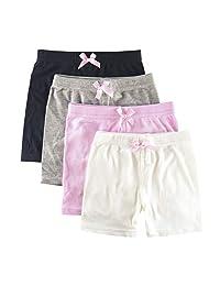 ZukoCert 4 件装女孩舞蹈短裤透气*自行车短裤适合打底衫运动 3-10T