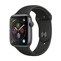 Apple Watch Series 4 MU6D2CH/A 智能手表(GPS 44毫米 深空灰色鋁金屬表殼 黑色運動型表帶)官方授權 全新國行 順豐發貨 含稅帶票 可開16% 專票
