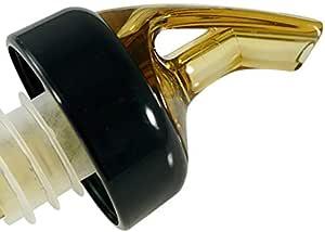 AmeriPour – 测量倒*器 – *瓶瓶倒*器 – 有领 – * 美国制造。 *吧喷嘴不会泄漏 - 没有裂缝,每次都可享受完美的鸡尾*。 也非常适合葡萄*! 琥珀色 1.5oz (45ml) - 3 Pack