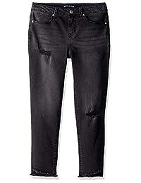 Calvin Klein 大女孩时尚牛仔布牛仔裤