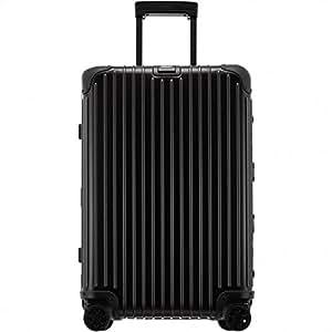 RIMOWA 日默瓦 TOPAS STEALTH系列 托运行李箱拉杆箱 924.63.01.4 深黑蓝色 26寸 万向轮 铝镁合金 海关锁(亚马逊进口直采,德国品牌)