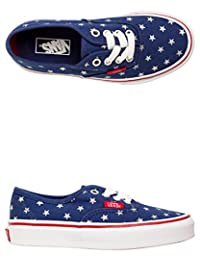 Vans Authentic (Foil Stars) 蓝色/红色/银色 - 儿童尺码 10.5 NWB