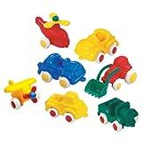 VIKING 小 chubbies 小学套装–7彩色汽车 ( 拖拉机,吉普,平面,直升机, truck 和2汽车总动员 )