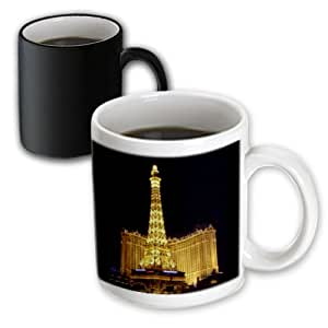 3drose SANDY mertens NEVADA – 巴黎*店 Casino IN Las Vegas NV – 马克杯 黑色/白色 11-oz Magic Transforming Mug