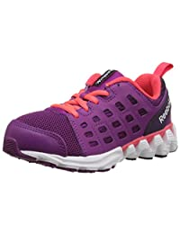 Reebok Zigkick Racer Running Shoe (Little Kid/Big Kid), Fierce Fuchsia/Royal Orchid/White/Neon Cherry, 2.5 M US Little Kid
