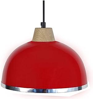 tosel 15564 DEMI - boule B 吊灯, 钢板, 移动/绘画环氧 / PVC 铬245 x 900毫米 红色 245 x 900 mm