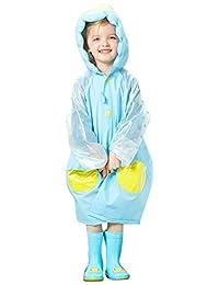 [精细日本] 儿童雨衣(带袋)可爱 企鹅 蓝色/BL RS-8128 蓝色 Medium