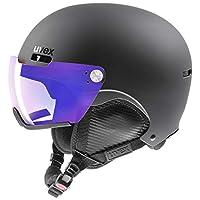 UVEX 优维斯 中性成人 hlmt 500 Visor V 滑雪头盔,黑色,59-62 厘米