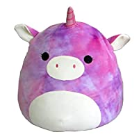 Squishmallow 16 粉色和紫色扎染独角兽