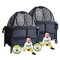 Aussie Cot Net Co – 双人装 – Pack n Play 旅行帐篷 防止宝宝爬山 – 便携式随时可用度假 – 幼儿园迷你婴儿床帐篷遮篷网罩 – 与家人一起睡觉的必备品