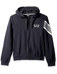 EA7 Emporio Armani Active 男式拖尾 7 线拉链连帽运动衫,