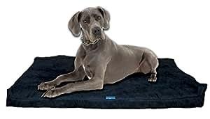 """五钻系列切碎*泡沫*狗床带可拆卸可洗护套和防水内里面料,适合小、中、大和超大品种犬 Navy Microfiber Extra Large 55"""" x 37"""""""