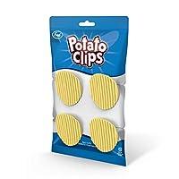 Fred 5246918 土豆籌碼包封口夾,標準 淺黃色 4 件套 5246918