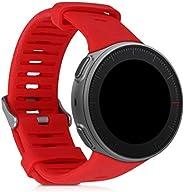 kwmobile 硅胶手表表带 适用于 Polar Vantage V - 健身追踪器替换表带 - 运动腕带手镯 带扣47319.09_m000882 红色