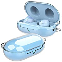 araree [Buddy] 適用于 Galaxy Buds and Buds+ 的聚碳酸酯手機殼,透明硬質,無需粘合手機殼,兼容三星 Galaxy Buds and Buds Plus