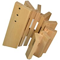 Artelegno Solid Beech Wood 8 Panel Magnetic Knife Block, Luxurious Italian Pisa Collection by Master Craftsmen Displays High-End Knives Elegantly, Eco-friendly, Natural Finish, Small