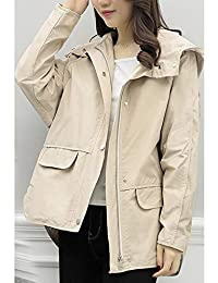 Goralon 新款女装中长款百搭休闲小个子洋气风衣宽松大码连帽外套