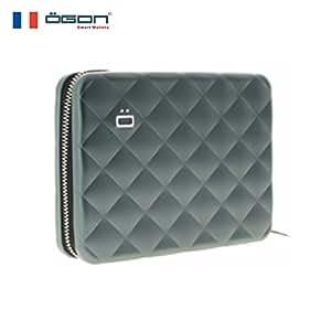 【官方直营】OGON 法国欧夹防盗护照钱包/卡包(欧洲原创 原装进口 时尚设计 创意礼物)(银灰色)