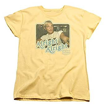 Womens: Dazed And Confused - Alright Alright Ladies T-Shirt Size L