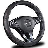 ameriluck Auto 汽车方向盘套高品质20.32cm 通用2018新款设计黑色和红色透气防滑 & 无味美观舒适 GRIP