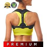 Back Posture Corrector 男女通用 - 有效舒适的Kyphosis 背部支撑支架 - 可调式锁骨和肩托,附赠腋窝垫