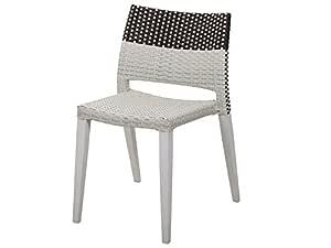 Jadon Outdoors 2014-04W 海港椅,48.26 厘米宽 x 55.88 厘米深 x 78.74 厘米高,白色和黑色(2 件套)