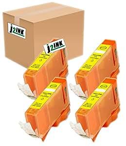 J2INK 兼容墨盒替换件 适用于佳能 PGI-225(5 大号黑色) 5 包 PGI-225BK 4 Yellow