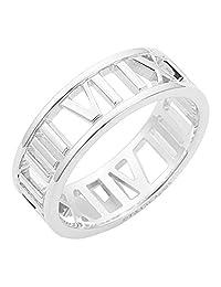 Tiffany 蒂芙尼 925纯银 Atlas 戒指 宽版 颜色-银色 颜色-银色