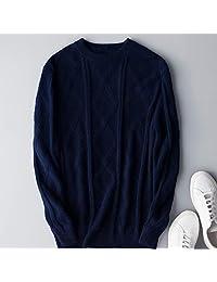 欧米澳 羊绒衫男圆领双股加厚套头菱形毛衣商打底羊毛衫