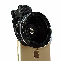ikodoo爱酷多 专业单反级二合一通用镜头 广角镜头+微距镜头 0.45X倍 46mm直径 Sony相机可用 支持平板/手机 苹果iphone6S iPhone7 Plus 三星 华为 小米 联想等 合影自拍神器 (专业摄像型 广角+微距 黑色)