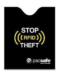 Pacsafe 中性 RFIDsleeve 50 屏蔽护照保护套 10370100 黑色 均码