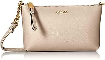 Calvin Klein Hayden Key Item Saffiano 皮革斜挎包 沙色 单一尺寸